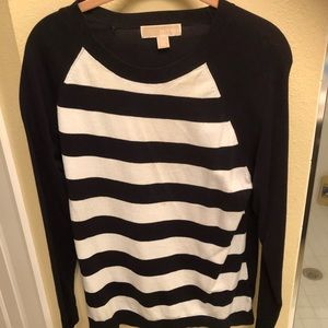 Michael Kors navy/white striped sweater